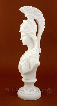 Athena Minerva Wisdom Greek Roman Goddess Bust Marble Statue | eBay