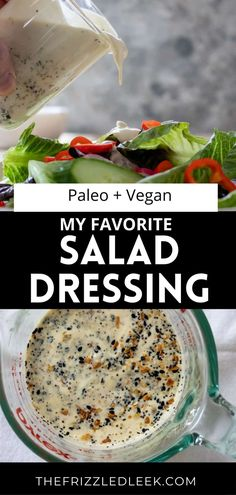 Everything but bagel salad dressing is the new Ranch! Serve this dressing with your favorite veggie platter or mix green salad. This salad dressing checks all the boxes. Gluten-free, dairy-free, paleo, whole30, and vegan friendly! Trader Joes everything but bagel seasoning is used for the best results. Drizzle this sauce on top of your morning eggs, and potatoes to spice up your breakfast game! #dressing #salad #dippers #everythingbagelseasoning
