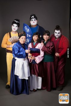 Mulan cosplay - Mathieu is the soldier-geisha, I am the teacher with the ink moustache