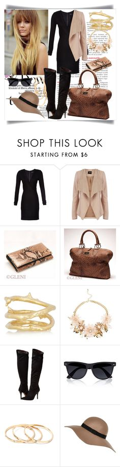 """Senza titolo #7"" by gleniofficial ❤ liked on Polyvore featuring Alice + Olivia, Oasis, Aurélie Bidermann, Report and River Island"