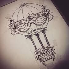 tattoos of hot air balloons - Google Search