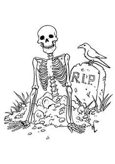 creepy werewolf wolfman halloween coloring page | coloring ... - Halloween Skeleton Coloring Pages