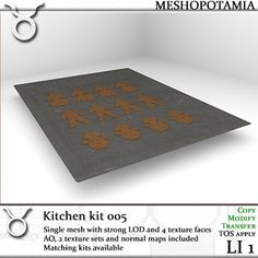 4 AO maps, two texture sets (before and after baking) and normal maps included. See related items for matching kits *************************. Kitchen Kit, Normal Map, How To Apply, Kids Rugs, Texture, Home Decor, Surface Finish, Decoration Home, Kid Friendly Rugs
