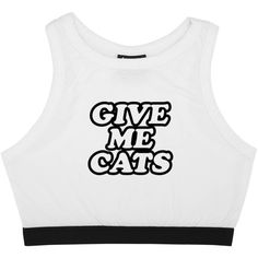 Give Me Cats Bralet Top Crop T Shirt Bustier Tee Womens Fun Tumblr... (€16) ❤ liked on Polyvore featuring tops, black, crop tops, women's clothing, goth crop top, bustier crop tops, crop top, cropped bustier and slimming tops