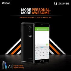 Android is clearly the most loved operating system that gets better with each update. But with the Gionee A1, you're ahead of the rest with the latest Android OS, Nougat, pre-installed. Experience the best Android matched with Gionee's revolutionary Amigo OS. Together with these, the Gionee A1 delivers an unmatched personalization experience you'll love every time.