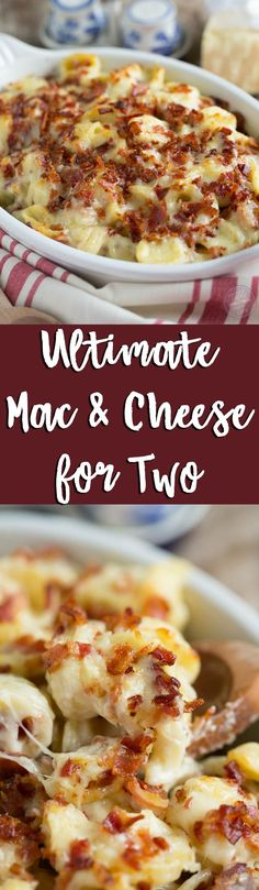 This ultimate mac 'n cheese casserole for two is one dish that you won't mind cranking up the oven for! Decadent, rich, creamy, and everything your dreams are made of!
