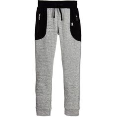 KARL LAGERFELD Kids - Boys Grey & Black 'Wild Block' Tracksuit Trousers | Childrensalon