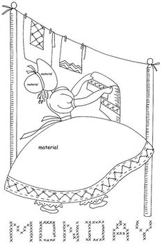 Sunbonnet Sue days of the Week...........applique and stitching