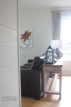 Large Scale Floral Artwork // Shibang Designs Floral Artwork, Plank Walls, Ship Lap Walls, My Living Room, Brick, Scale, House Design, Furniture, Home Decor