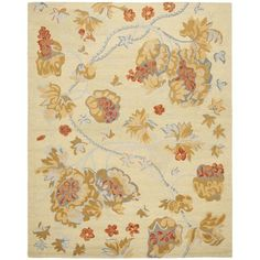 Safavieh Handmade Blossom Beige Rug with Cotton Canvas Backing