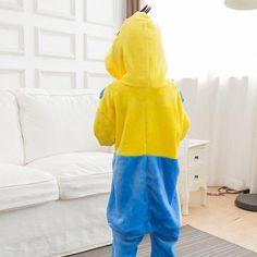 Boy Girl Pajamas Onesie Unisex Spiderman Minions Pikachu Cartoon Animal Cosplay with Hoodie
