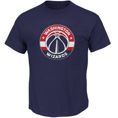 Men's Washington Wizards Majestic Navy Big & Tall Primary Logo T-Shirt