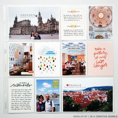 In a Creative Bubble: 2016 Project Life // Central Europe Diy Projects For Kids, Book Projects, Design Projects, Kids Diy, Project Life Travel, Kids Travel Journal, Project Life Scrapbook, Project Life Layouts, Pocket Scrapbooking