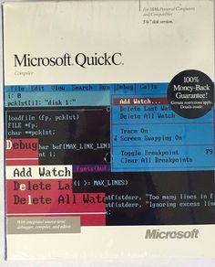 """1988 Microsoft QuickC Compiler 1.01 IBM Personal Computers Vintage 5 1/4""""Disk #Microsoft #quickccompiler #vintagecomputersoftware"""