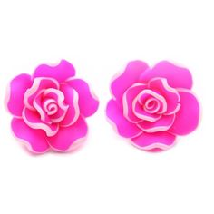EIGA Women's Rose Stud Earrings ($6.98) ❤ liked on Polyvore featuring jewelry, earrings, red jewelry, red earrings, earrings jewelry, rose earrings and rose jewellery