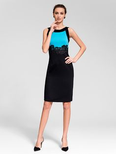 Sheath/Column Jewel Knee-length Polyester Semi-Formal Dress - EUR €18.17