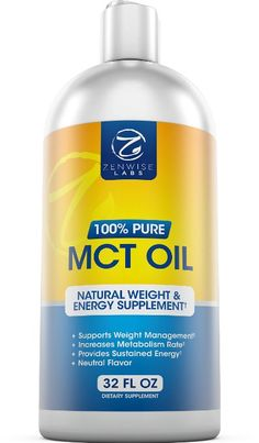 Premium MCT Oil Derived from Coconuts - Paleo and Vegan Friendly Supplement - 32 FL OZ