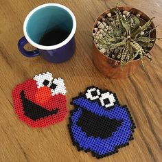 Sesame Street hama beads by thepixiepoint