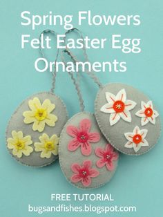 Sew some pretty felt Easter egg ornaments with this free tutorial!