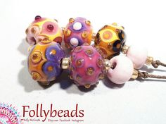 Hey, I found this really awesome Etsy listing at https://www.etsy.com/au/listing/527710000/handmade-lampwork-artisan-glass-bead-set