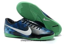 save off 40ef8 0c383 Nike Mercurial Vapor IX Limited Edition IC Boots - Black White Blue Green  Galaxy New Soccer Shoes 2013