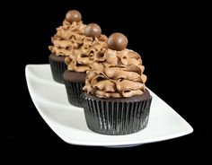 Mocha Cupcakes with Chocolate Mousse Frosting