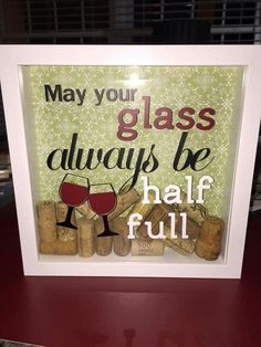 Wine cork shadow box
