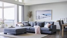 Super comfy lounge suite This sofa can be set up as a large 4 Seater with Ottoman, or as a Corner Suite Brought brand new from Harvey Norman for Its . Couch With Chaise, Couch Set, Futon Sofa, Modular Lounges, Modular Sofa, Grey Lounge, Lounge Sofa, Lounge Suites, Leather Lounge