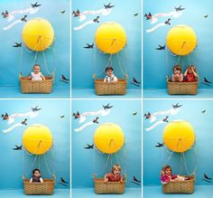Image result for yellow DIY hot air balloons