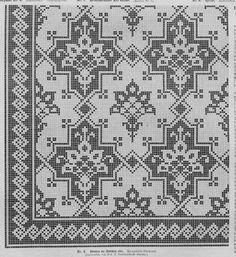 "ru / Photo # 51 - Scheme of the journal ""Bulletin of fashion"" - natashakon Russian Embroidery, Cross Stitch Embroidery, Thread Crochet, Filet Crochet, Needlepoint Patterns, Embroidery Patterns, Cross Stitch Designs, Cross Stitch Patterns, Cross Stitch Cushion"