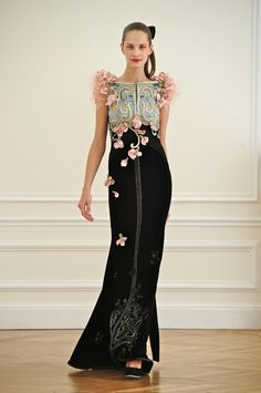 .alexis mabille fall couture petal embroidery 2010 dress