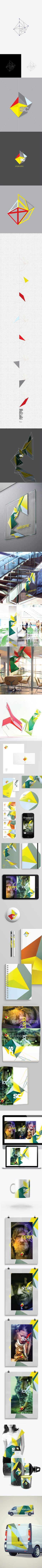 branding, identity: Simple Colors by Graphic Man, via Behance Corporate Design, Brand Identity Design, Graphic Design Branding, Corporate Identity, Business Branding, Logo Design, Visual Identity, Web Design, Website Design