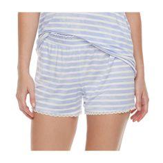 Women's SONOMA Goods for Life™ Pajamas: Essential Scallop Hem Shorts, Size: Medium, Brt Purple