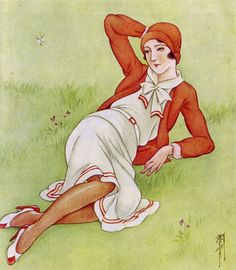 Art of Kasho Takabatake – – Mostly Paintings of Beautiful Woman and Girls. Art Deco Stil, Art Deco Era, Vintage Japanese, Japanese Art, Vintage Posters, Vintage Art, King Painting, Roman Art, Retro Art