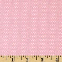 CARNATION PINK Light Pink Mini Dot Pin Dot by TreasureBayFabric, $6.99