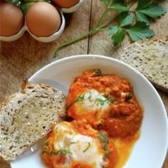 Simplicity at its best... Eggs in My Homemade Tomato Sauce; ready in a matter of minutes.