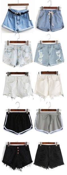 Must-have for hot summer. Classic blue denim shorts, street ripped denim shorts, new fashion sport shorts and black denim shorts. Cheap Shop at http://www.romwe.com/www-festival-checklist-vc-1501.html