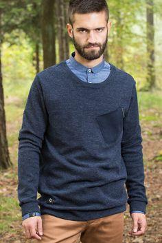 Boar_blue - pánský svetr