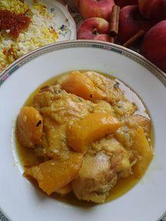 La mia cucina persiana: Pollo alle Pesche - Khoresh Holu