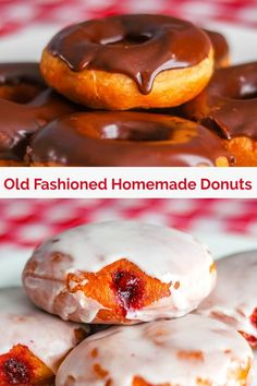 Donuts, Glazed or Filled! A great basic homemade recipe! Rock Recipes - Donuts, Glazed or Filled. A great basic recipe for yeast raised doughnuts that you can experiment w - Recipes With Yeast, Donut Recipes, Cooking Recipes, Cupcake Recipes, Yeast Donuts, Doughnuts, Homemade Donuts, Homemade Recipe, Breakfast Recipes