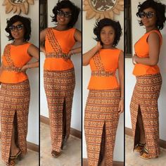 Creative Ankara Skirt and Blouse Style http://www.dezangozone.com/2015/11/creative-ankara-skirt-and-blouse-style_14.html