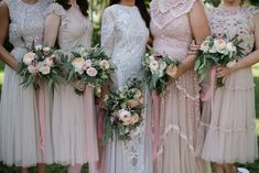 Bride's and bridesmaid bouquets in pale shades  #bride #bridesmaids #bridesmaid #weddingbouquet #paleshadebouquet #bouquet #wedding #flowers #flowerdecoration #flowerdesign #weddingideas #corfu #γαμος #λουλουδια #ιδεεςγαμου #νυφικομπουκετο #νυφικηανθοδεσμη #μπουκετο #ανθοδεσμη #στολισμοςγαμου #ανθοστολισμος #κερκυρα #rizosgarden Wedding Videos, Post Wedding, Floral Bouquets, Floral Wreath, Start Tv, Corfu Holidays, Wedding Window, Bridesmaid Dresses, Wedding Dresses