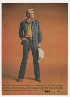1976 Advertisement Lee Contempo Western Denim Knits Men's Fashion Wall Art Decor
