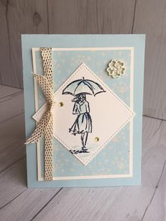 Stampin' Up! hand made card using Beautiful You Stamp Set