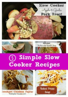 5 Simple Slow Cooker Recipes - http://3boysandadog.com/2013/11/5-simple-slow-cooker-recipes/?5+Simple+Slow+Cooker+Recipes