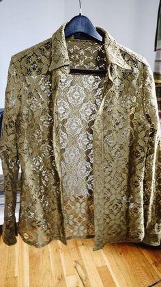 6b8dab470 Burberry Floral Lace Button Up Dress Shirt Prorsum Size m - Shirts (Button  Ups)