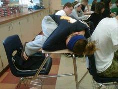 Funny Sleeping People in class