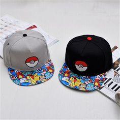 2016 Hot cartoon Pokemon cap embroidered hip-hop wizard ball pokemon hat baseball cap wholesale deus cap gorra