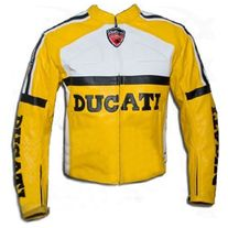 f2150ca5 MEN'S NEW Ducati Corse Yellow Leather Motorcycle 2PC Suit from QASTANWEARS