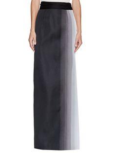 Ombre Long Skirt by Carolina Herrera at Gilt